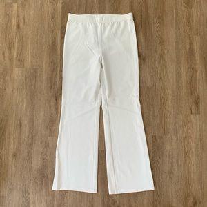 Liz Claiborne NY L white elastic stretch pant
